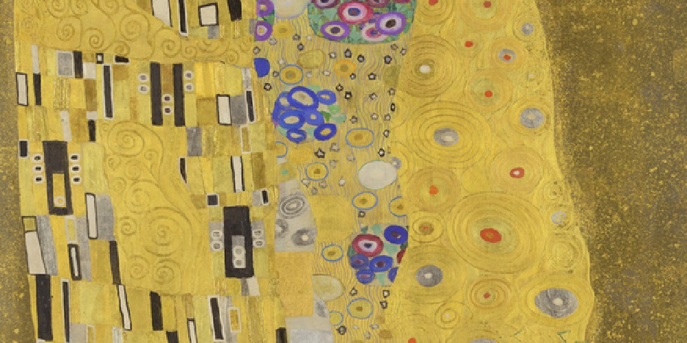 "Gustav Klimt's ""The Kiss"""