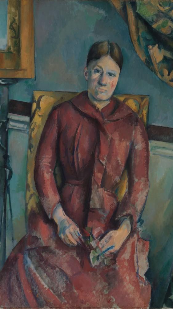 Madame Cézanne in a Red Dress