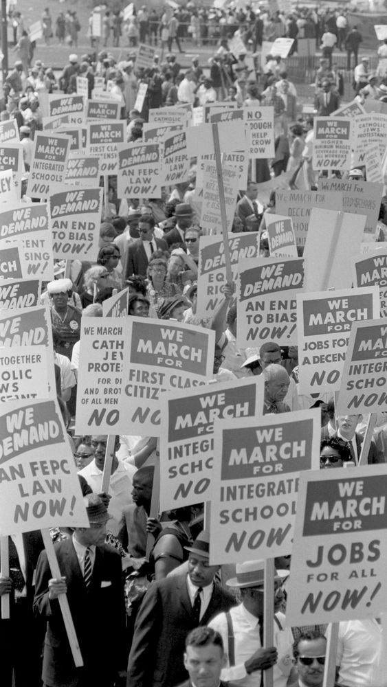 Signs March on Washington