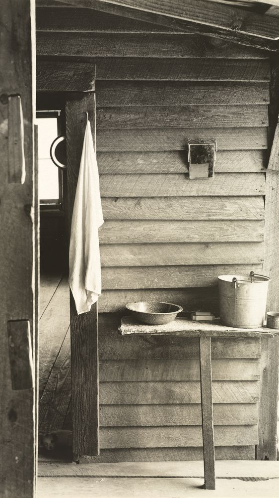 Washroom in the Dog Run of the Burroughs Home, Hale County, Alabama