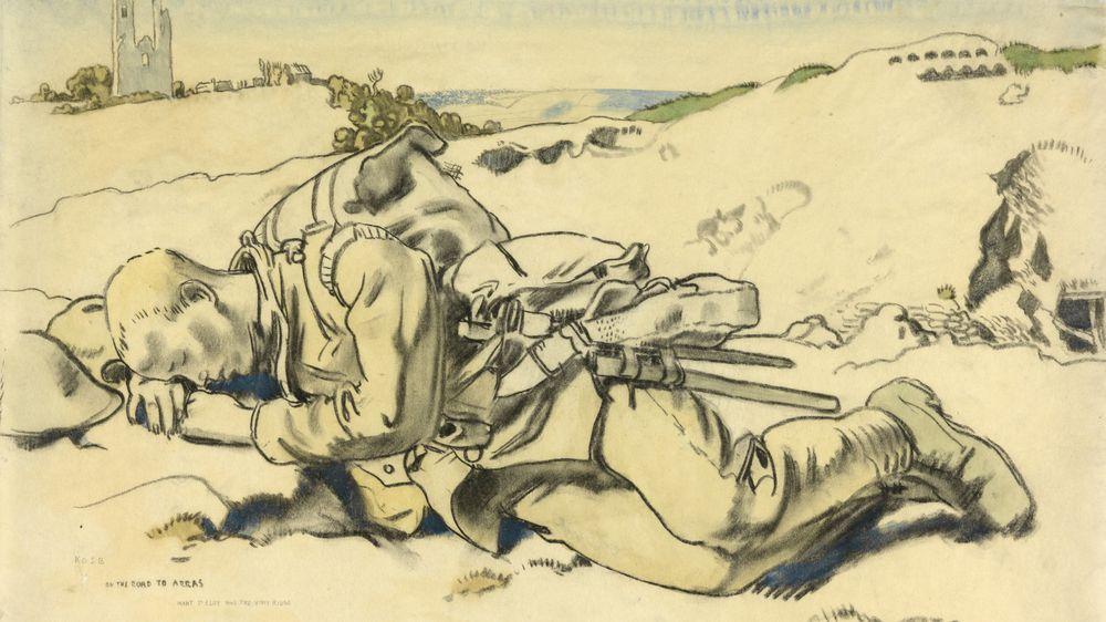 A Man Resting, Near Arras