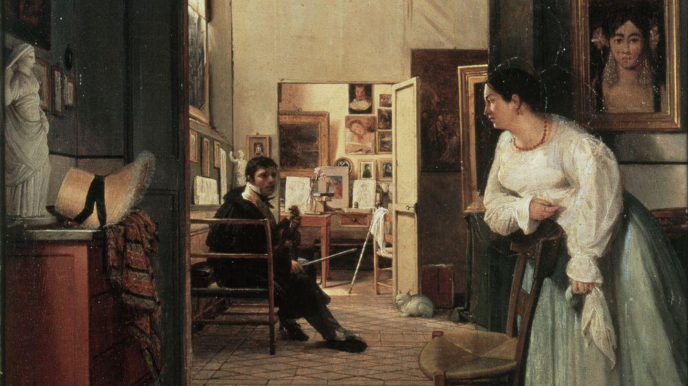 """The Studio of Ingres in Rome"""