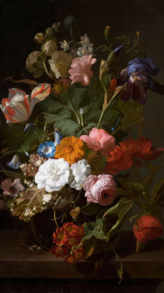 Still Life with Flowers and a Cricket