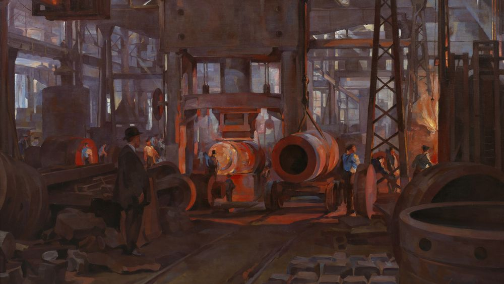 The 'L' Press. Forging the Jacket of an 18-inch Gun…