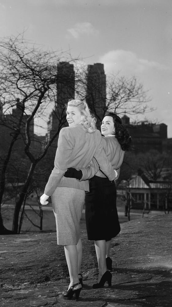 Portrait of Doris Day and Kitty Kallen, Central Park, New York