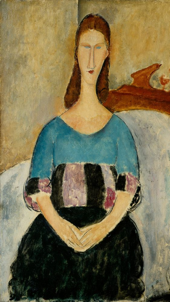 Portrait of Jeanne Hébuterne, Seated