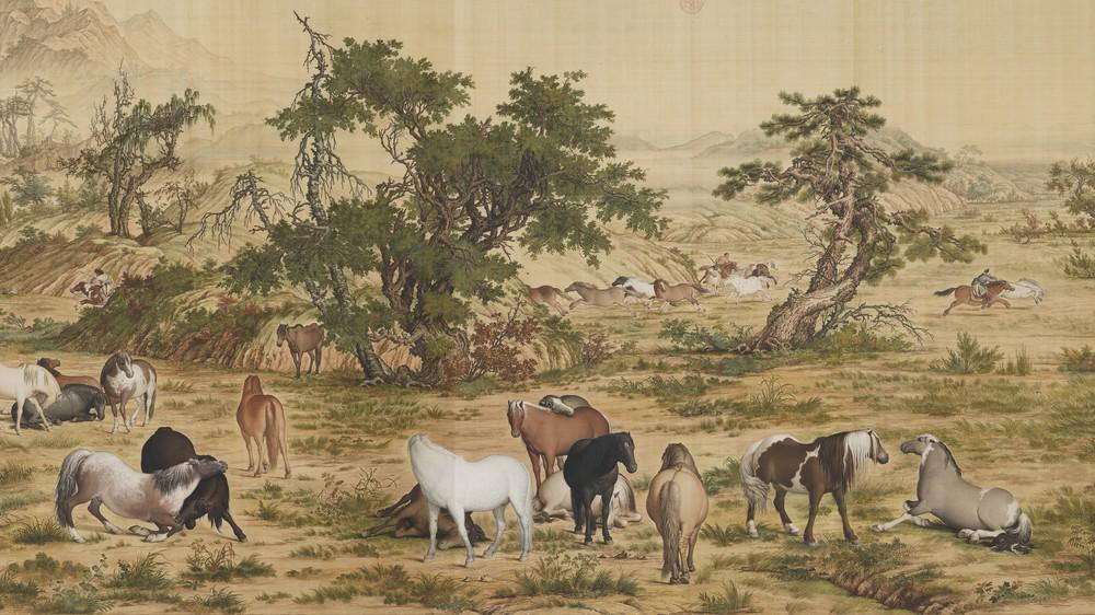 One Hundred Horses (detail)