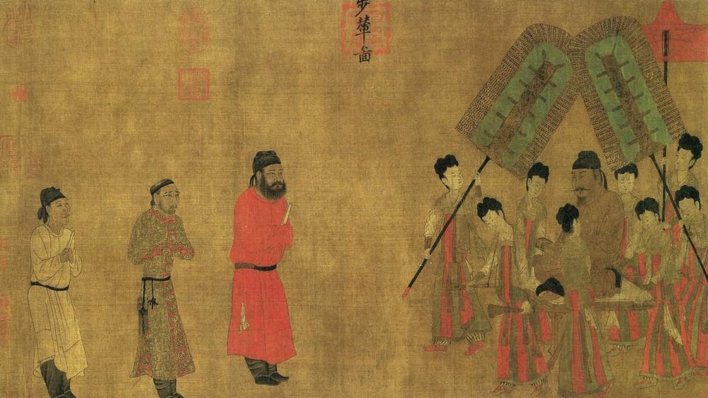 Emperor Taizong Receiving the Tibetan Envoy