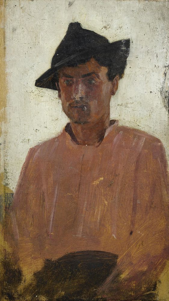 Italian Man with Hat