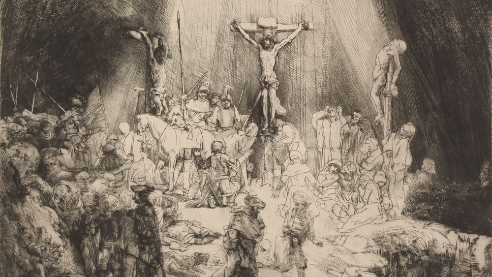Christ Crucified Between the Two Thieves: 'The Three Crosses'