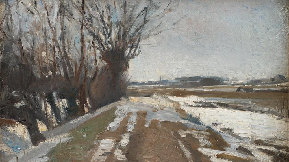 Winter Landscape. Utterslev Near Copenhagen