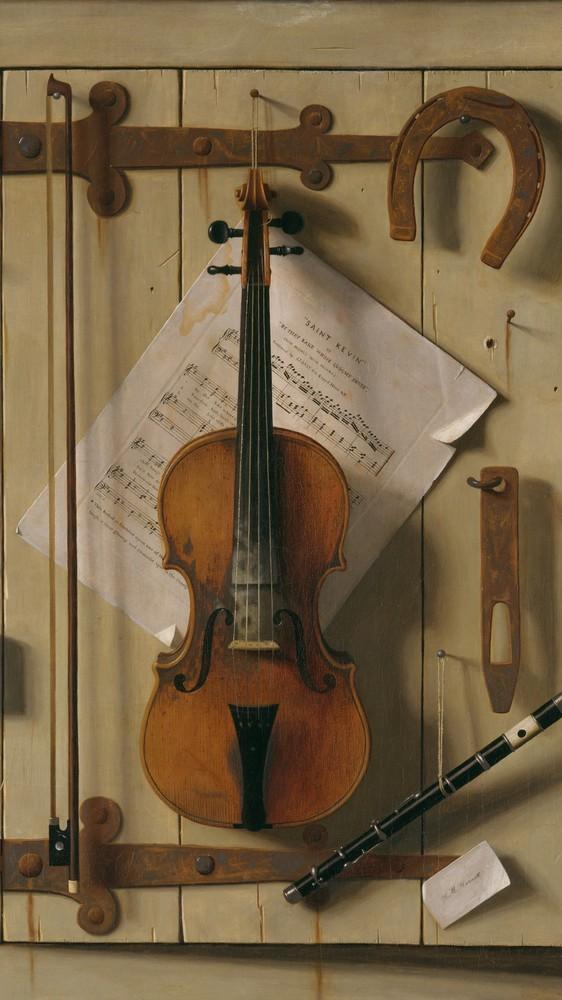 Still Life—Violin and Music