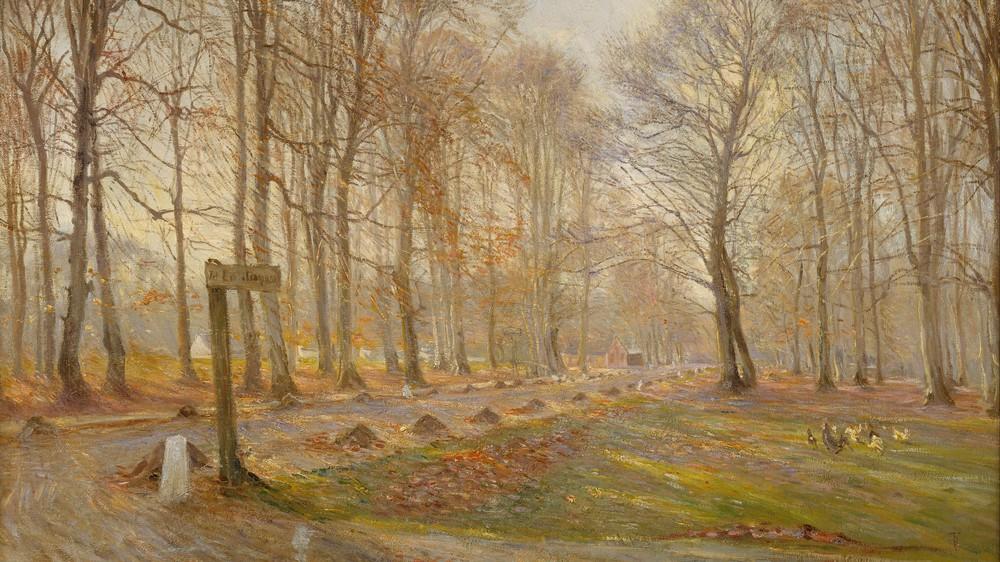 Late Autumn Day in the Jægersborg Deer Park, North of Copenhagen