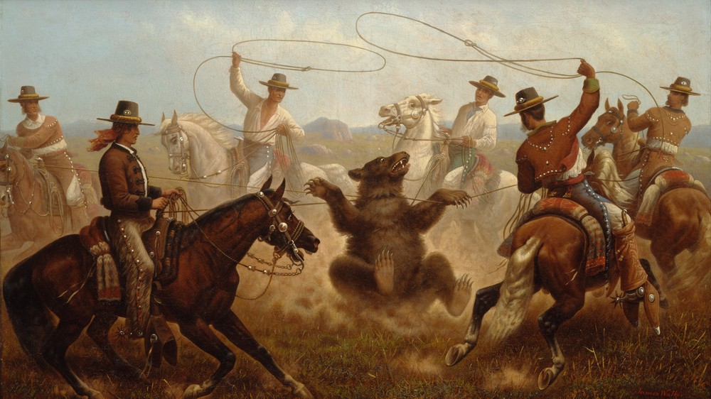 Cowboys Roping a Bear