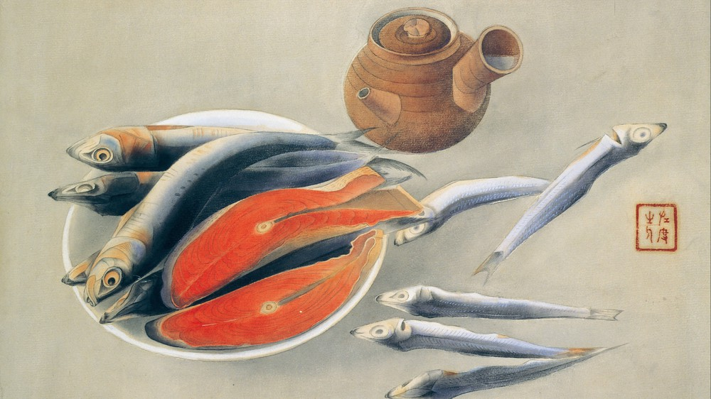 Still Life - Salmon Slices and Sardines