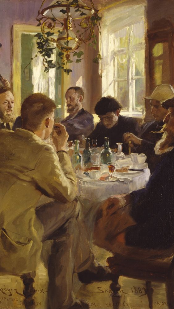 Artists' Luncheon at Brøndum's Hotel