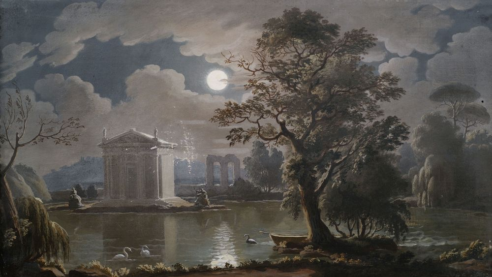 Southern Ideal Landscape by Moonlight