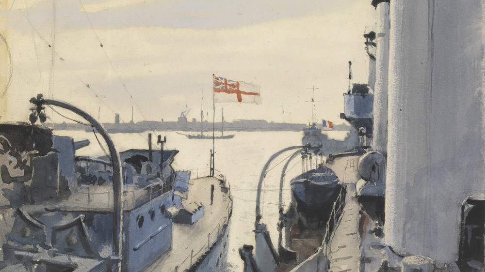"Sunday at Copenhagen - ""HMS Cardiff"" and ""HMS Concord"""